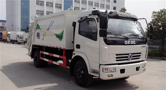 东风多利卡7-8方压缩垃圾车(后翻转结构可选挂桶、三角斗、全密封斗、摆臂)