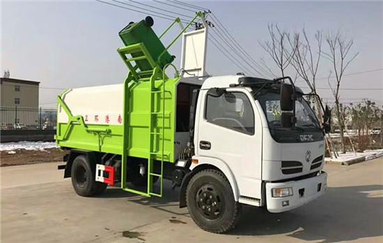 东风8方挂桶压缩垃圾车